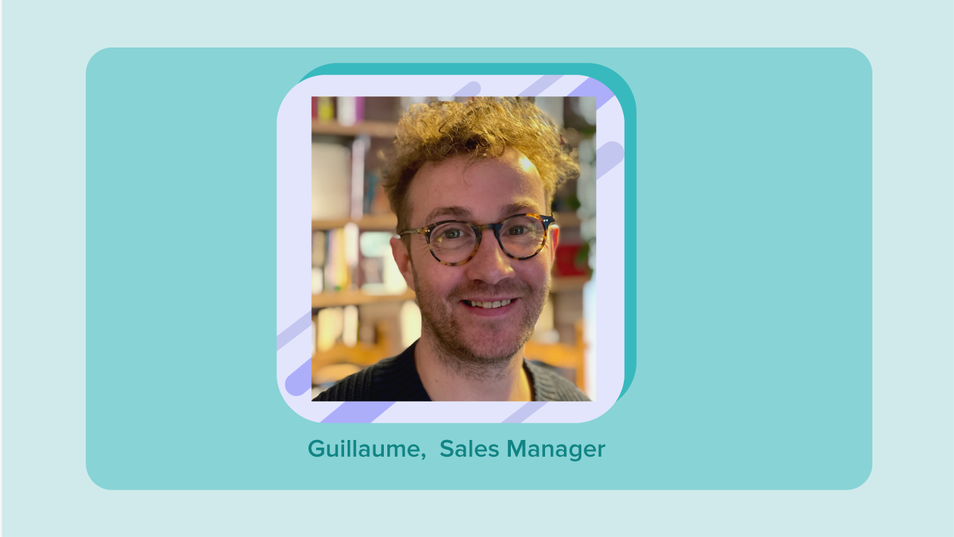 Photo portrait de Guillaume, Sales Manager chez Fluicity